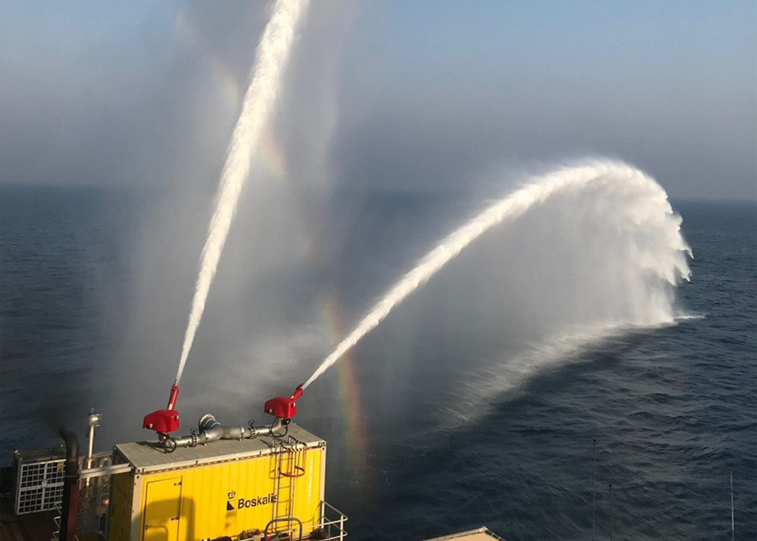 Hydrodiesel Marine Fire Fighting Containerized external fire fighting system
