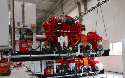 Again four (4) Fire Water Pump sets are being prepared for transport.